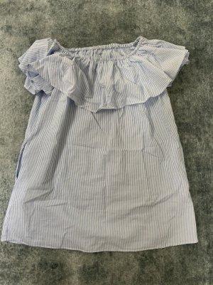 Zara Off-The-Shoulder Dress azure-white
