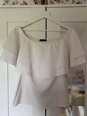 Asos Camisa de un solo hombro blanco