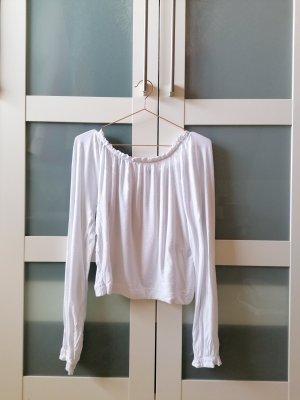 Bershka Top épaules dénudées blanc