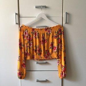 H&M Off-The-Shoulder Top orange