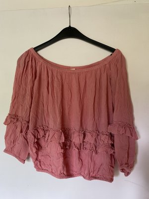 Forever 21 Off-The-Shoulder Top bright red-pink