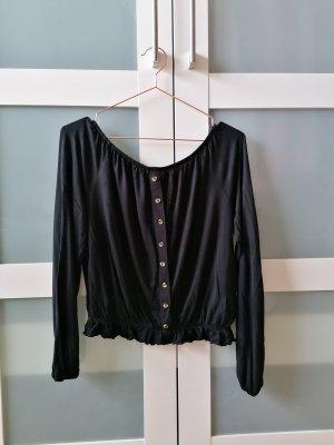 H&M Koszula typu carmen czarny