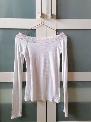 Amisu Top épaules dénudées blanc