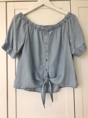Noisy May Off the shoulder top azuur