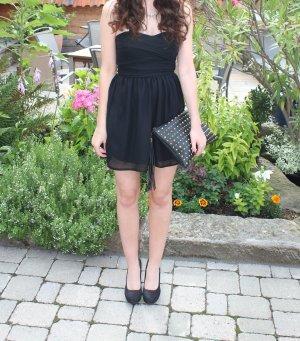 Rare london Chiffon Dress black