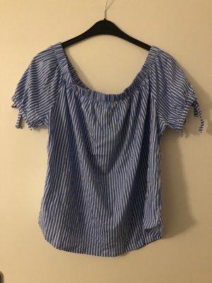 H&M Boothalsshirt wit-neon blauw