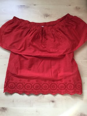 Only Off-The-Shoulder Top red