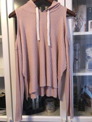 Camicia con cappuccio color oro rosa