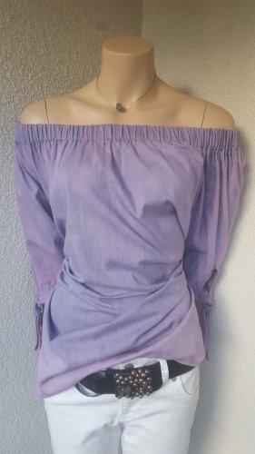 Camisa tipo Carmen lila