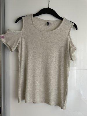 H&M Divided Chemise côtelée beige clair