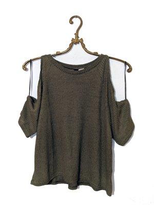 Schulterfreies Shirt (Rippstruktur) Gr. S