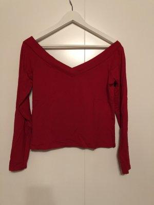 H&M Divided Top épaules dénudées noir-rouge