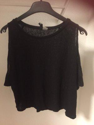 schulterfreies Shirt schwarz , Gr. M