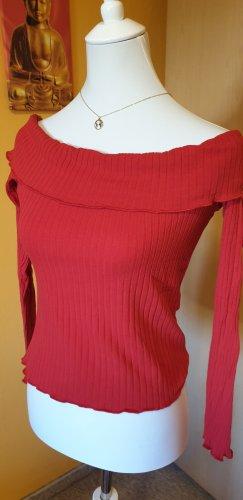 heart & hips Koszula typu carmen czerwony Bawełna