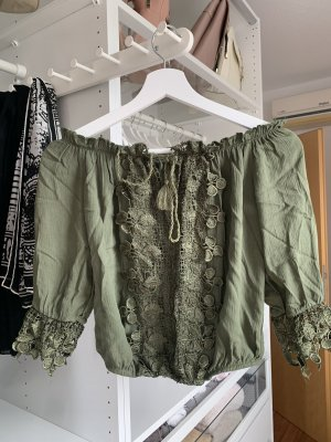 Lace Blouse dark green