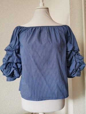 Schulterfreies Streifenhemd