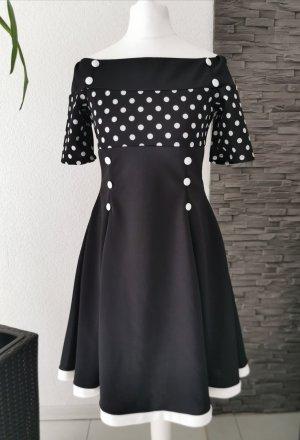 Belsira Sukienka bez ramiączek biały-czarny