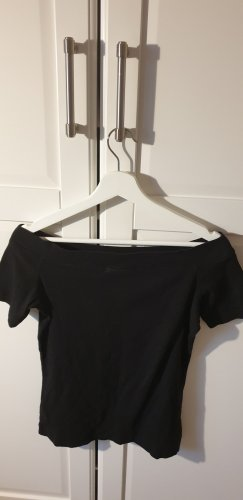 H&M Off the shoulder top zwart