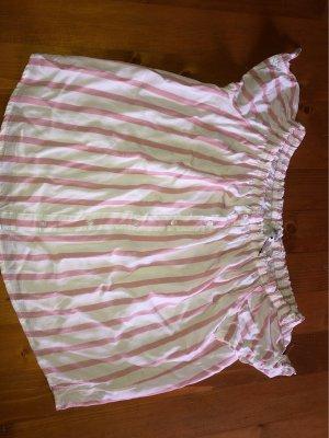 Colloseum Camisa de un solo hombro color rosa dorado-blanco
