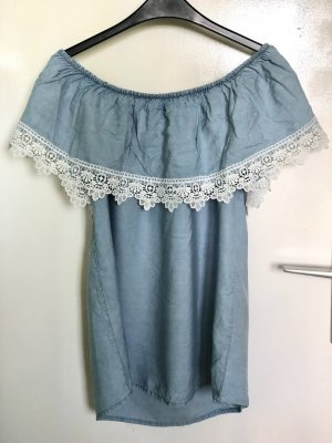 Frill Top white-azure