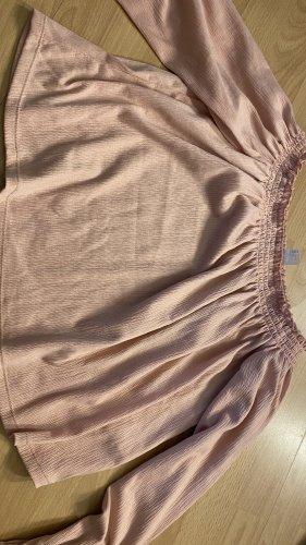 H&M Divided Top spalle scoperte rosa chiaro-rosa antico