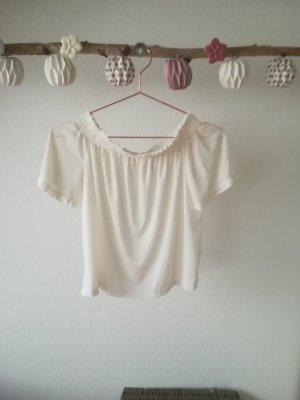 Only Camisa tipo Carmen crema