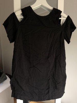 H&M Hauts épaule nues noir-argenté