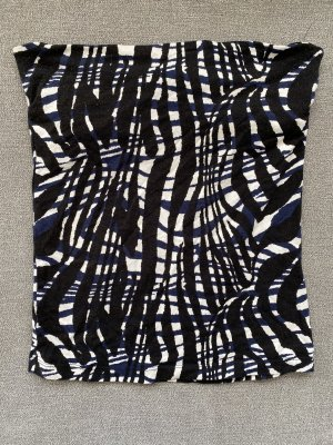 schulterfreies top in schwarz weiß