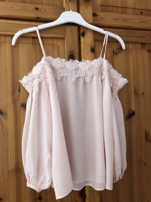 New Look Off-The-Shoulder Top light pink