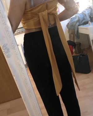 vestidos Top spalle scoperte giallo-oro
