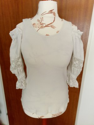 Country Line Folkloristische blouse wit Katoen