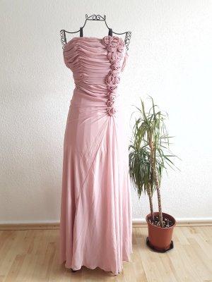 Schulterfreies Tüllkleid in rosé