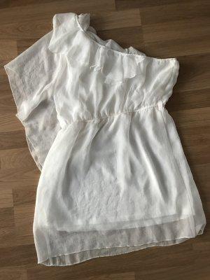 Schulterfreies weißes Sommerkleid M