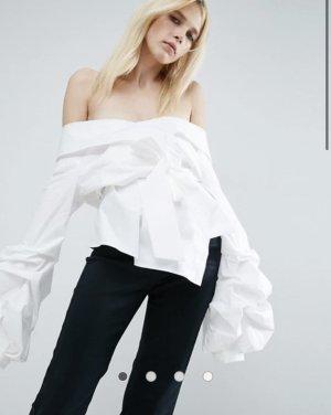 Asos White Koszulowa bluzka biały