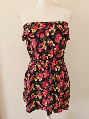 Schulterfreis Kleid Blumenmuster Gr. S