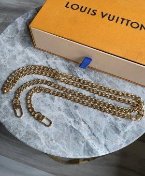 Schulterkette pochette Schulterriemen Taschenkette Gold 120 cm