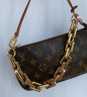 Schulterkette Schulterriemen goldene Kette pochette Louis Vuitton