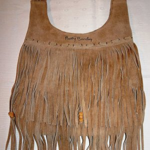 Betty Barclay Fringed Bag sand brown-dark brown
