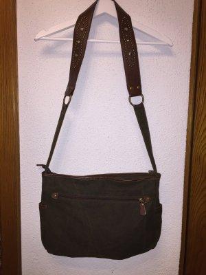 s.Oliver Shoulder Bag olive green-brown