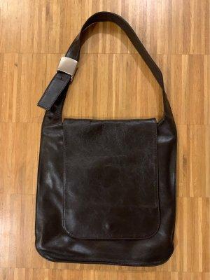0039 Italy Sac porté épaule brun noir-brun foncé