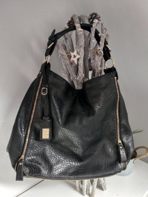 Hallhuber Shoulder Bag black-gold-colored
