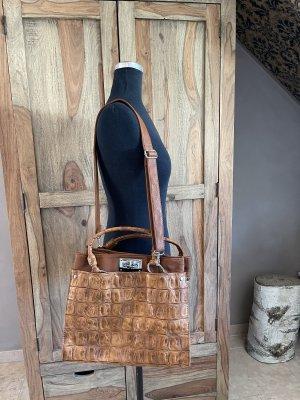 0039 Italy Sac porté épaule brun