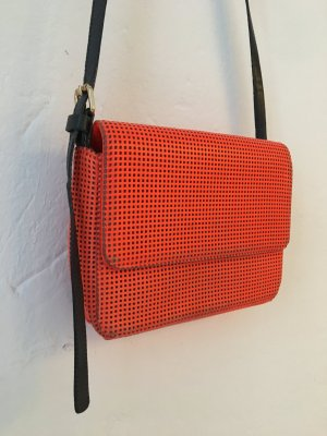 & other stories Crossbody bag neon orange leather