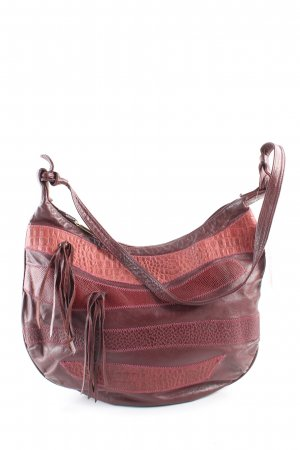 Schultertasche rot Animalmuster Casual-Look
