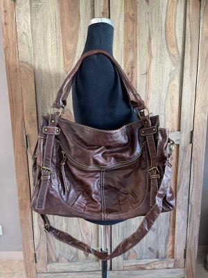 0039 Italy Sac porté épaule brun foncé
