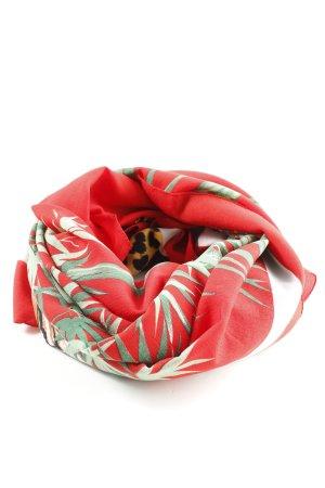 Châle au tricot motif de fleur style décontracté