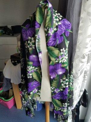 schultertuch lila schwarz
