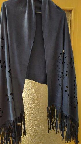 Bonita Shoulder Scarf dark blue mixture fibre
