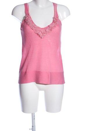 Schumacher ärmellose Bluse pink Casual-Look