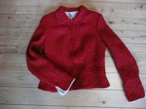 Schumacher Blazer Jacke rot Boucle Wolle Viskose Baumwolle M , 38 Designer